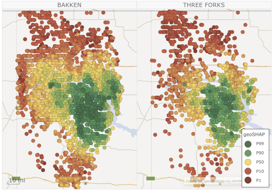 Machine learning oil and gas modeling for Bakken and Three Forks.